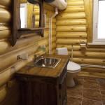 сруб одноэтажный ванная комната