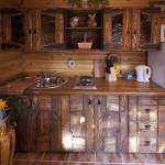сруб одноэтажный кухня